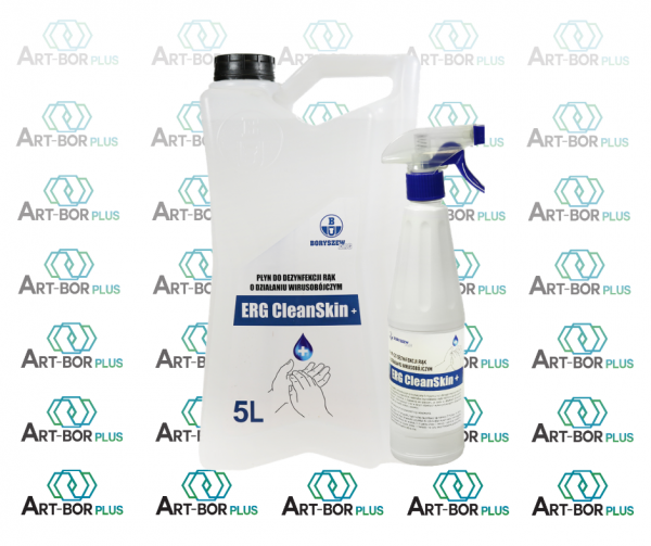 Erg CleanSkin + Płyn do dezynfekcji rąk i powierzchni.
